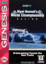 Nigel Mansell's World Championship Racing Sega Genesis cover artwork