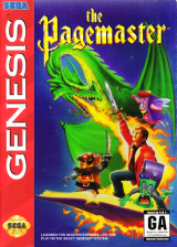 Pagemaster, The Sega Genesis cover artwork