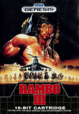 Rambo III Sega Genesis cover artwork