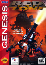 Red Zone Sega Genesis cover artwork