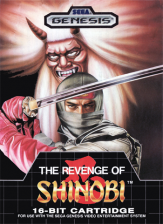 Revenge of Shinobi, The Sega Genesis cover artwork