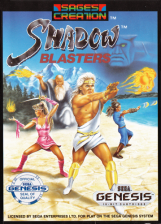 Shadow Blasters Sega Genesis cover artwork