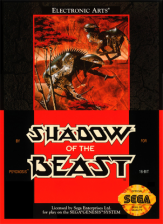 Shadow of the Beast Sega Genesis cover artwork