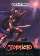 Stormlord Sega Genesis cover artwork
