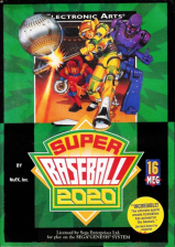 Super Baseball 2020 Sega Genesis cover artwork