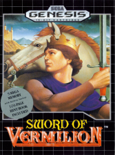 Sword of Vermilion Sega Genesis cover artwork