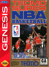 Tecmo Super NBA Basketball Sega Genesis cover artwork
