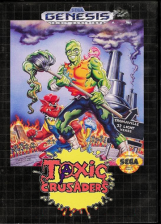 Toxic Crusaders Sega Genesis cover artwork