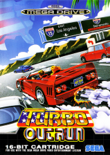 Turbo OutRun Sega Genesis cover artwork