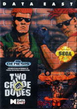 Two Crude Dudes Sega Genesis cover artwork