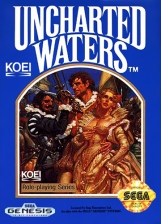 Uncharted Waters Sega Genesis cover artwork