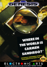 Where in the World Is Carmen Sandiego ? Sega Genesis cover artwork