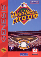 World Series Baseball Sega Genesis cover artwork