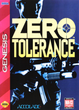 Zero Tolerance Sega Genesis cover artwork