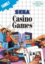 Casino Games Sega Master System cover artwork