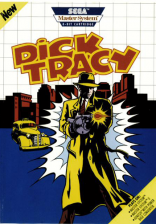 Dick Tracy Sega Master System cover artwork