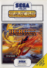 Heroes of the Lance Sega Master System cover artwork