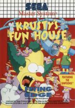 Krusty's Fun House Sega Master System cover artwork
