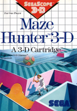 Maze Hunter 3-D Sega Master System cover artwork