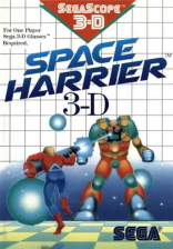 Space Harrier 3-D Sega Master System cover artwork