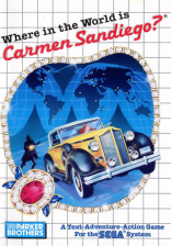 Where in the World is Carmen Sandiego Sega Master System cover artwork