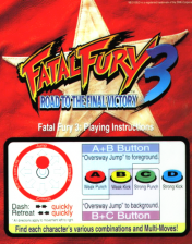 Fatal Fury 3: Road to the Final Victory SNK NEO GEO cover artwork