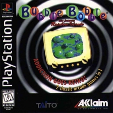Bubble Bobble Also Featuring Rainbow Islands Sony PlayStation cover artwork
