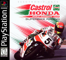 Castrol Honda Superbike Racing Sony PlayStation cover artwork