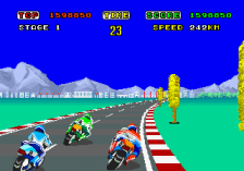 Hang-On ingame screenshot