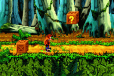 Crash Bandicoot - The Huge Adventure ingame screenshot