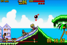 Motocross Maniacs Advance ingame screenshot