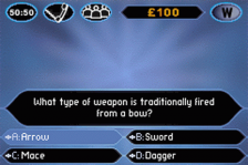 Who Wants to Be a Millionaire Junior ingame screenshot
