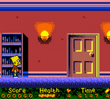 Simpsons, The - Night of the Living Treehouse of Horror ingame screenshot