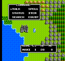 Dragon Warrior II ingame screenshot