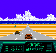 Rad Racer II ingame screenshot