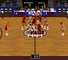 Bulls vs Blazers and the NBA Playoffs ingame screenshot