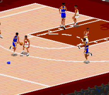 NBA Live' 95 ingame screenshot