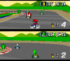 Super Mario Kart ingame screenshot