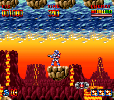 Super Turrican ingame screenshot