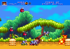 Gunstar Heroes ingame screenshot