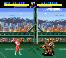 Mighty Morphin Power Rangers ingame screenshot