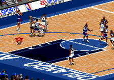 NBA Live 96 ingame screenshot