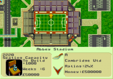 Premier Manager 97 ingame screenshot