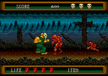 Splatterhouse 2 ingame screenshot