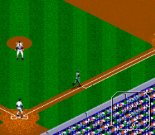 Tecmo Super Baseball ingame screenshot