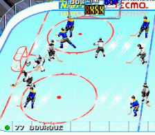 Tecmo Super Hockey ingame screenshot