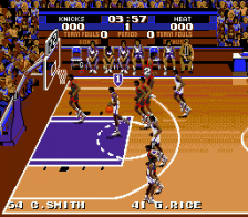 Tecmo Super NBA Basketball ingame screenshot
