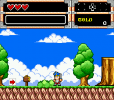 Wonder Boy in Monster World ingame screenshot