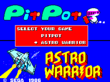 Astro Warrior & Pit Pot ingame screenshot