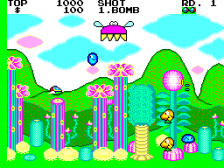 Fantasy Zone ingame screenshot
